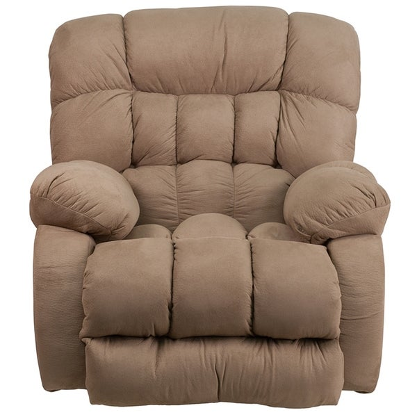 Sylmar Taupe Microfiber Softsuede Rocking Recliner Chair