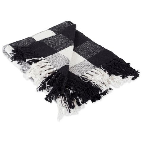 DII Buffalo Check Decorative Throw