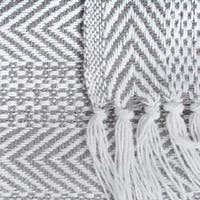 DII Herringbone Stripe Decorative Throw