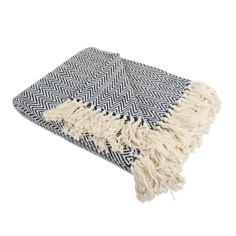 DII Handloom Chevron Decorative Throw