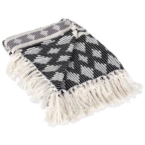DII Slub Stripe Decorative Throw