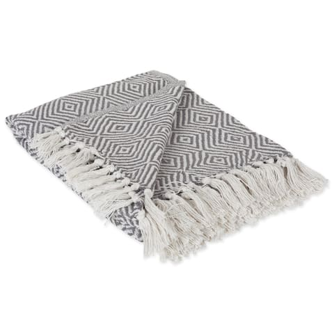 DII X-Diamond Geometric Decorative Throw