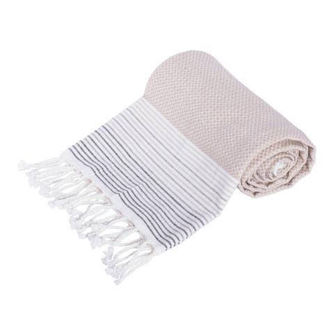 DII Variated Stripe Decorative Fouta Towel