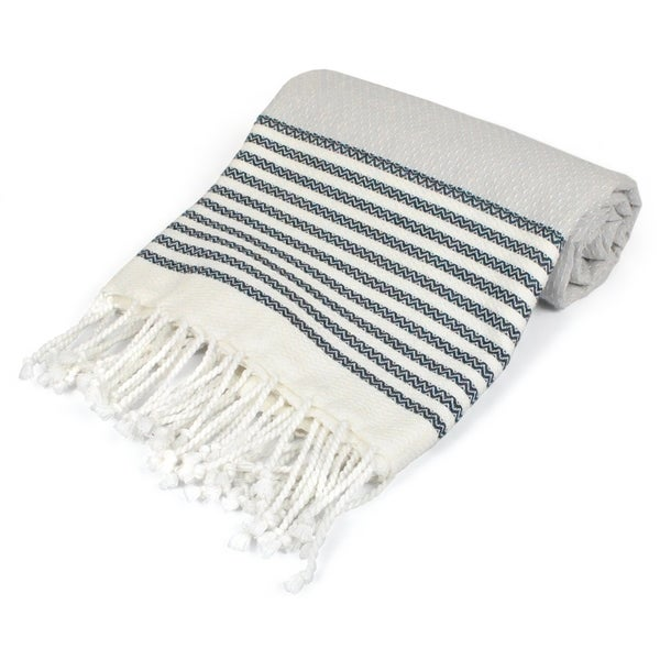 DII Variated Stripe Decorative Fouta Towel. Opens flyout.