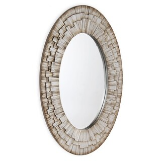 Stella Oval Wall Mirror - Antique Silver - A/N