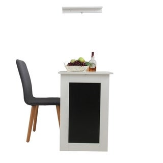 ALEKO Desk White Wall-mounted Fold-out Convertible Table