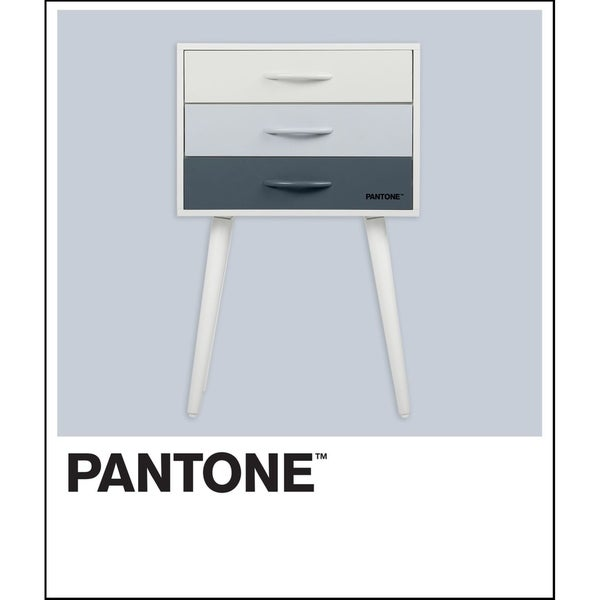 Pantone 3-Drawer Accent Table, Blue Ombre