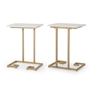 Ariade Modern Glam C Side Table (Set of 2) by Christopher Knight Home