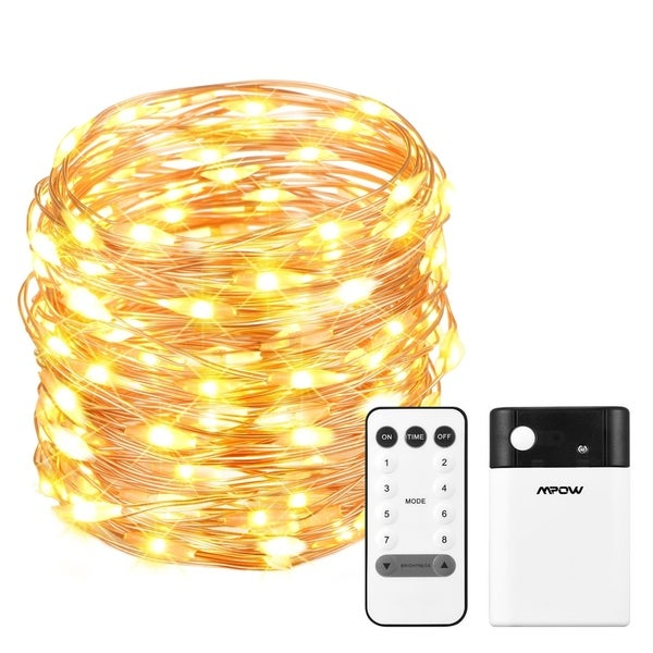 Mpow LED String Lights, Dimmable with Remote Control, 33 ft with 100 LEDs, Warm or Cool White