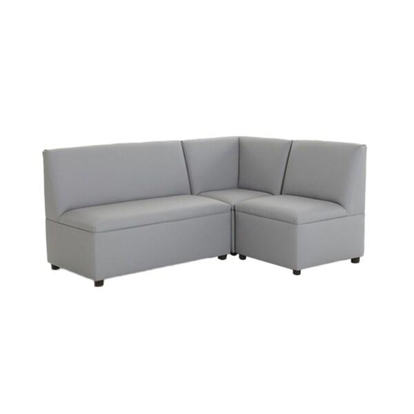 BrandNew World Modern Casual Enviro Child Upholstery 3 Piece Sofa Set - Gray