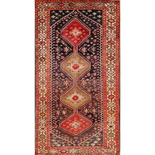 "Traditional Yalameh Shiraz Persian Hand Made Area Rug fo - 9'6"" x 5'1"""