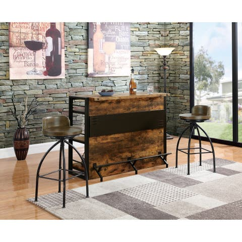 Rustic Metal Swivel Stool Counter Height (As Is Item)