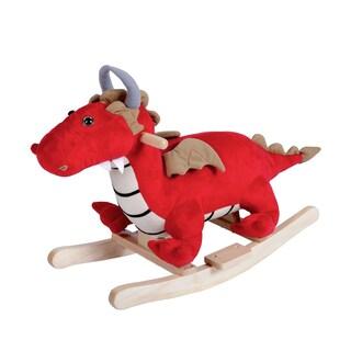 Kinbor Kids Rocking Horse Rocker Ride On Plush Toy for Children's Day Birthday Gift W/ 32 Nursery Rhymes