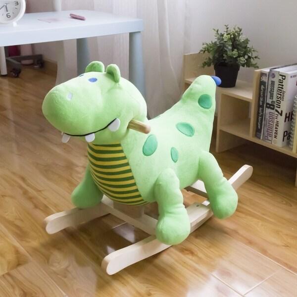 Boys Rocking Dinosaur Green Childrens Toy