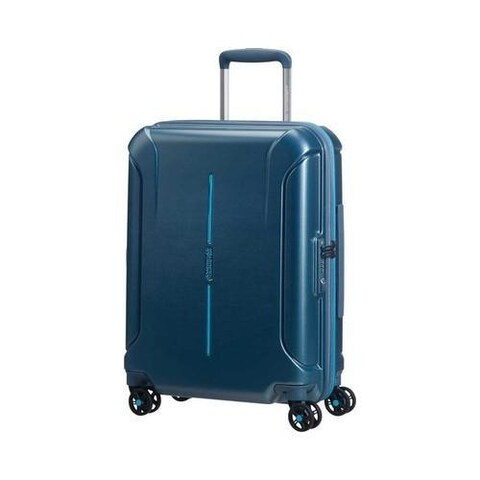 Women's American Tourister Technum 20in Expandable Carry-On Metallic Blue