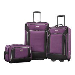 American Tourister Fieldbrook XLT 3-Piece Luggage Set Purple/Black