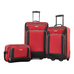 American Tourister Fieldbrook XLT 3-Piece Luggage Set Red/Black