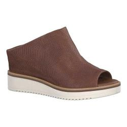 Women's Tamaris Alis Peep Toe Wedge Bootie Cognac Leather