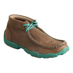 Children's Twisted X Boots CDM0005 Driving Moc Bomber/Turquoise Leather