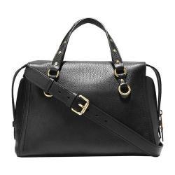Women's Cole Haan Cassidy Satchel Black Pebble Leather
