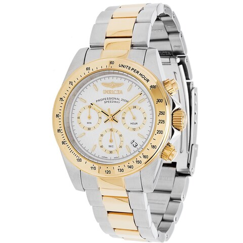 Invicta Men's 9212 'Speedway' Chronograph Gold-Tone and Silver Stainless Steel Watch