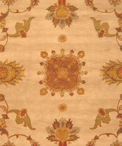 Hand-tufted Jewel Ivory Wool Rug (7'9 x 9'9) - Thumbnail 1