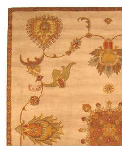 Hand-tufted Jewel Ivory Wool Rug (7'9 x 9'9) - Thumbnail 2