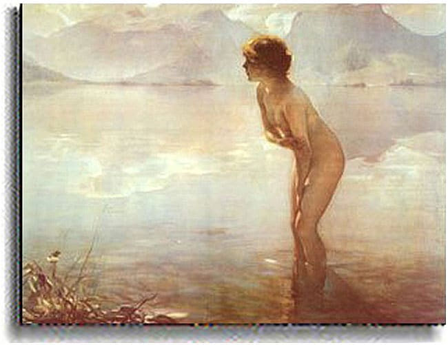 P. Chabas September Morn  Stretched Canvas Art