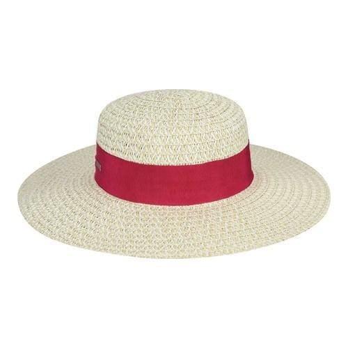 dfd6b27fd348d Shop Women s Betmar Chantalle Wide Brim Boater Hat Natural Pink ...