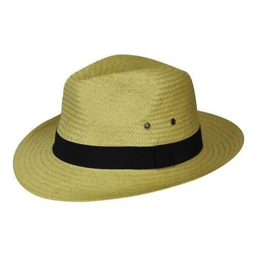 Shop Men s Country Gentleman Scott Paper Straw Fedora Natural Black - Free  Shipping On Orders Over  45 - Overstock.com - 21429876 7d3167ee481
