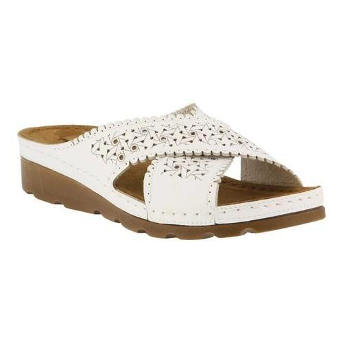b3cbb60cb1be12 Shop Women s Flexus by Spring Step Passat Slide Sandal White - On Sale -  Free Shipping Today - Overstock - 21429932