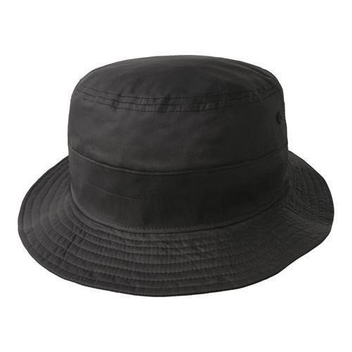 fde3b90f7e7 Shop Kangol Coated Bucket Hat Black - Free Shipping Today ...