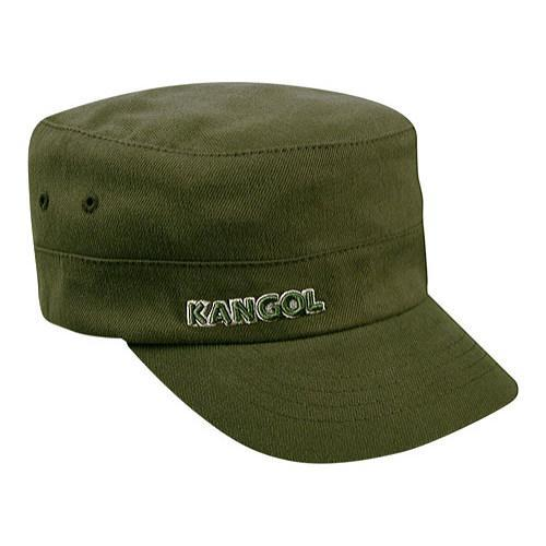 93f0d36fea24da Shop Kangol Cotton Twill Army Cap Green - Ships To Canada ...