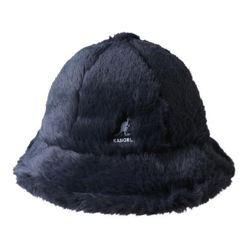 Shop Kangol Faux Fur Casual Bucket Hat Navy - Free Shipping Today -  Overstock - 21430299 2049ed028fb2