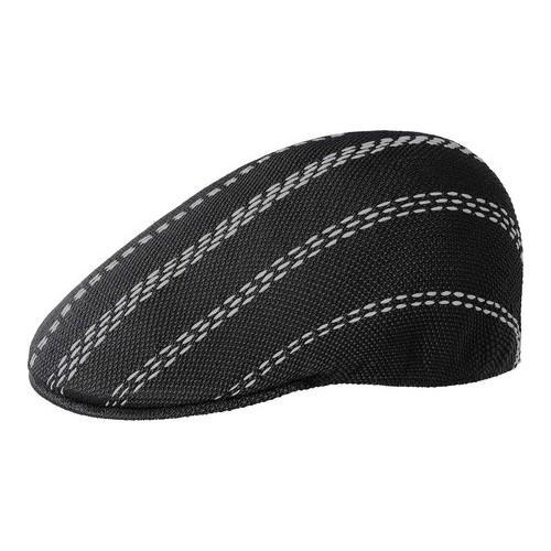 4f65d1c4de8 Shop Men s Kangol Float Stripe 507 Flat Cap Black Grey - Free Shipping  Today - Overstock.com - 21430324