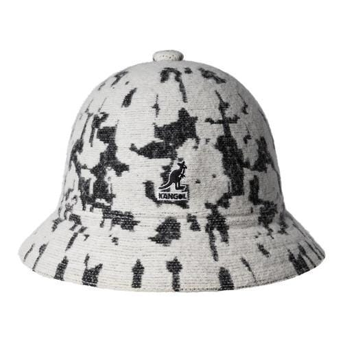 9498d992ca9 Shop Kangol Marbled Casual Bucket Hat Off White Black - Free ...