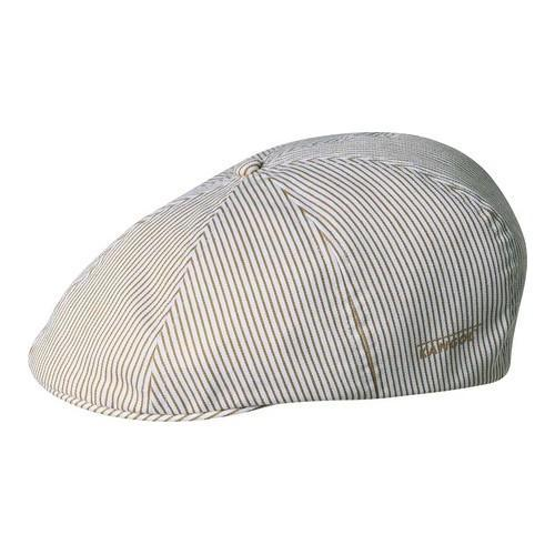 0b727348fd10a Shop Men s Kangol Stretch Ripley Newsboy Cap Beige Stripe - Free Shipping  Today - Overstock.com - 21430659