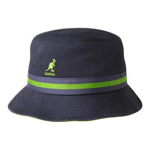 Shop Kangol Stripe Lahinch Bucket Hat Navy - Free Shipping On Orders Over   45 - Overstock - 21430702 2d7913eacb9e