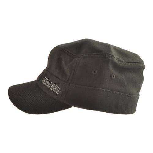 8a475857f Men's Kangol Textured Wool Army Cap Black | Overstock.com Shopping - The  Best Deals on Men's Hats