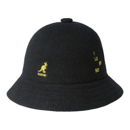 Shop Kangol Word Casual Bucket Hat Black Gold - Ships To Canada ... dcc04b64f1c