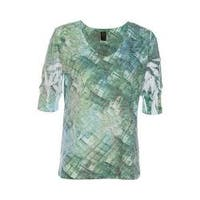 Women's Ojai Clothing Burnout Relaxed Fit Vee Mint Motion