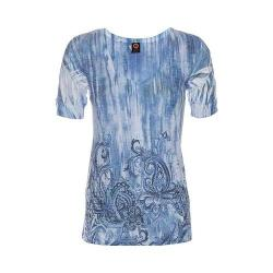 Women's Ojai Clothing Burnout Vee Monaco Blue Paisley Rain