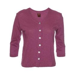 Women's Ojai Clothing Chopped Button Down Cardigan Orchid