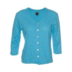 Women's Ojai Clothing Chopped Button Down Cardigan Scuba Blue