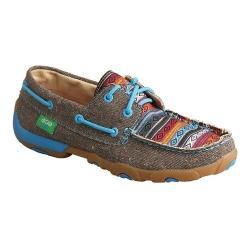 Women's Twisted X Boots WDM0099 Boat Shoe Dust/Multi Canvas