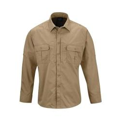 Men's Propper Kinetic Long Sleeve Shirt Long Khaki