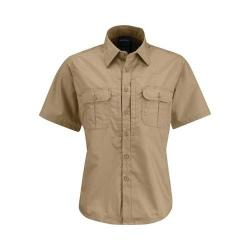 Women's Propper Kinetic Short Sleeve Shirt Khaki