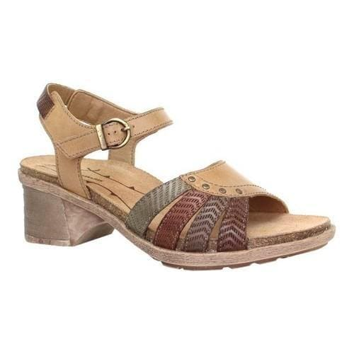Women's Dromedaris Shelly Ankle Strap Sandal Sand Leather