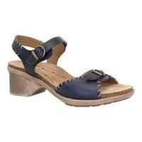 Women's Dromedaris Sandy Ankle Strap Sandal Ocean Leather