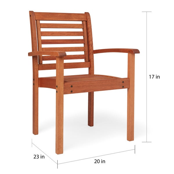 Stackable Wooden Chairs amazonia eucalyptus wood stackable chair - free shipping today